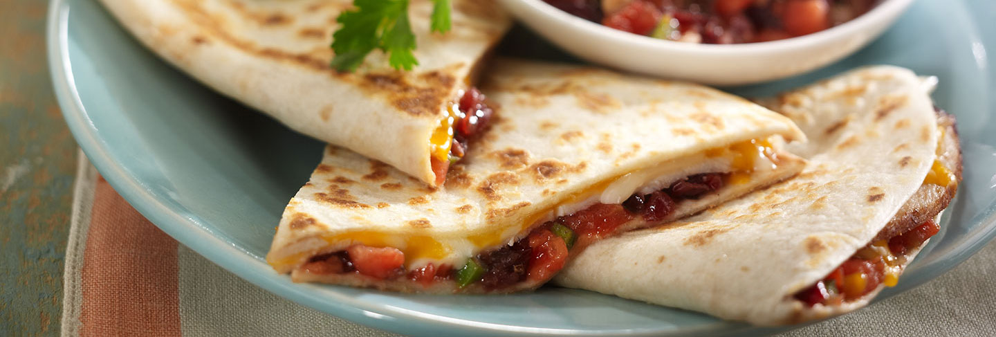 Smoky Cranberry Quesadilla