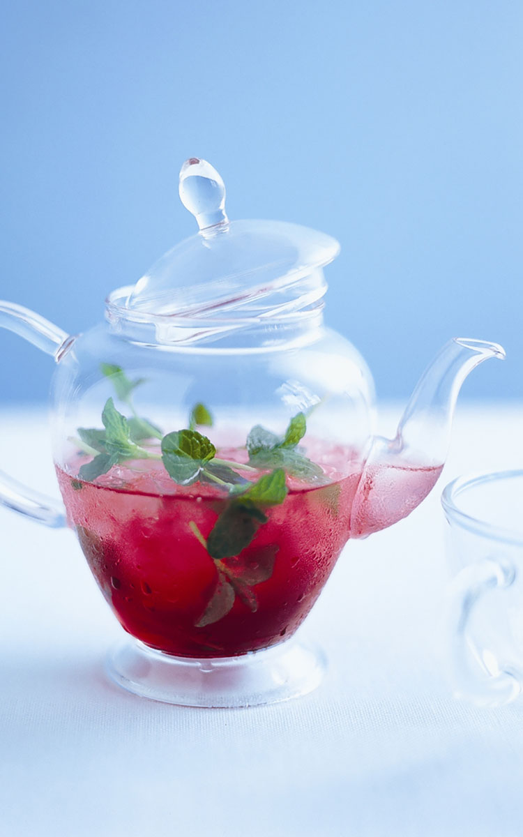 Minted Cranberry Iced Tea