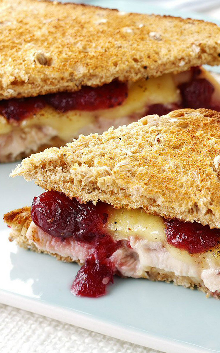 Cranberry Brie &Chicken Toastie