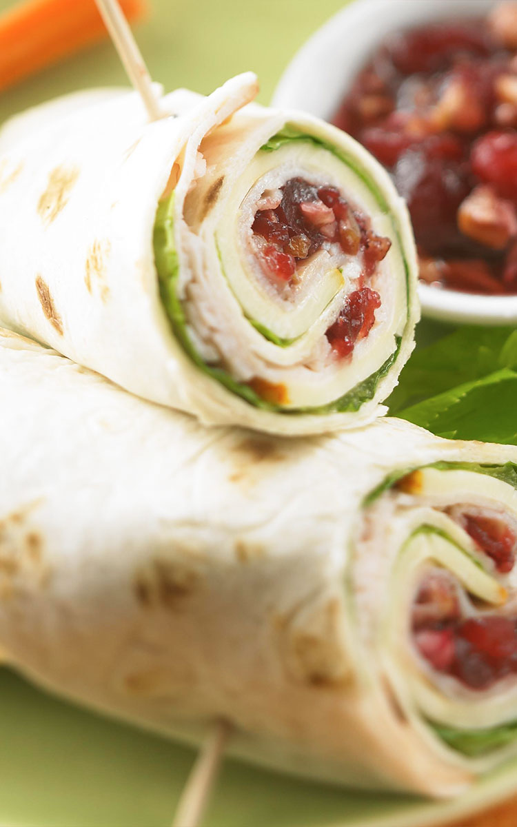 Turkey Cranberry Wraps